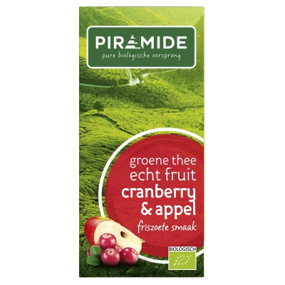 Groene thee cranberry thee PIRAMIDE
