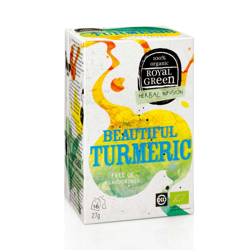 Beautiful turmeric thee