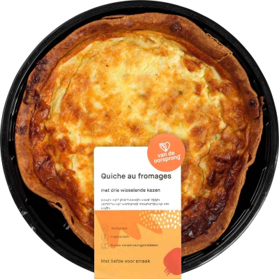 Quiche 3 fromages DE OORSPRONG
